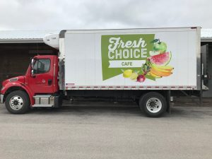 Refrigerated Truck with Logo & Veggies