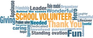 School Volunteer Word Cloud