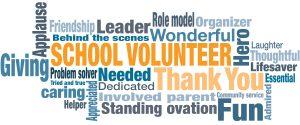 School Volunteer Word Cloud