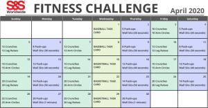 P.E. April Fitness Challenge
