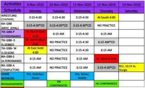 11 9 20 Activities