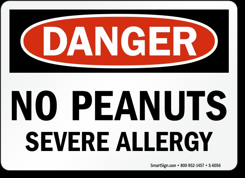 Danger nut allergy warning
