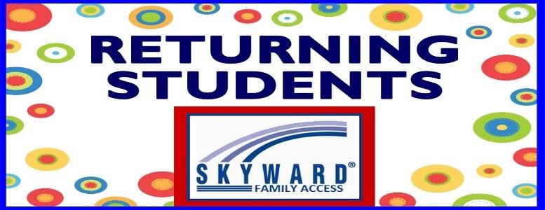 Returning students skyward