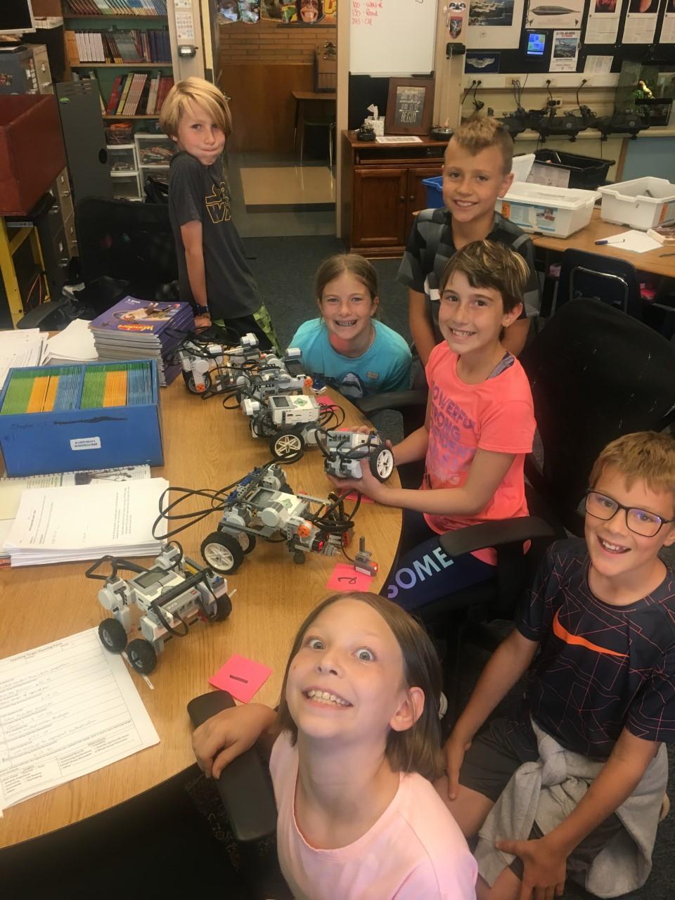 Robotics club members photo