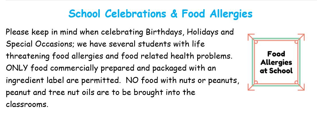 School celebrations at school