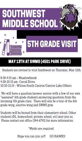 May 5th grade visit